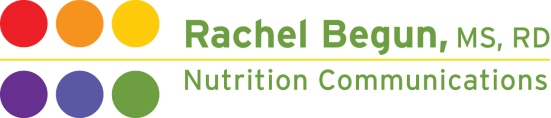 Rachel Begun, MS, RD Nutrition Communications logo